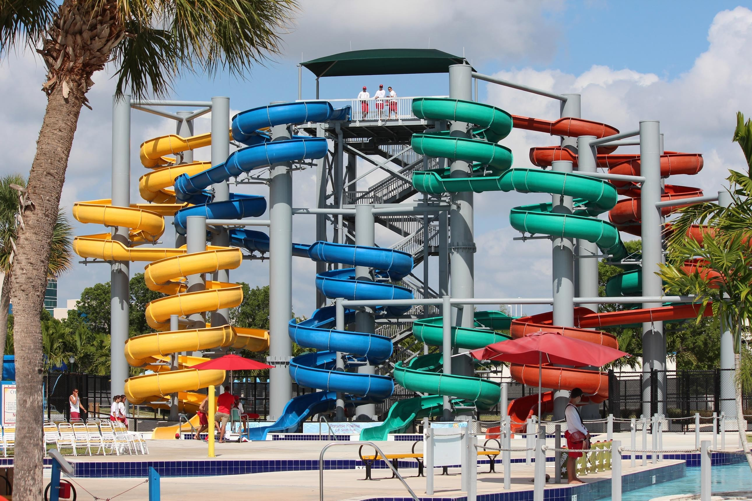 Check out the five-story corkscrew waterslides. - PHOTO COURTESY OF BROWARD COUNTY PARKS