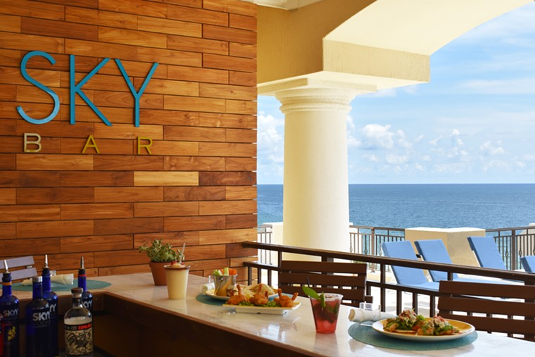 Your tots and wings come with an ocean view at The Atlantic's Sky Bar. - COURTESY