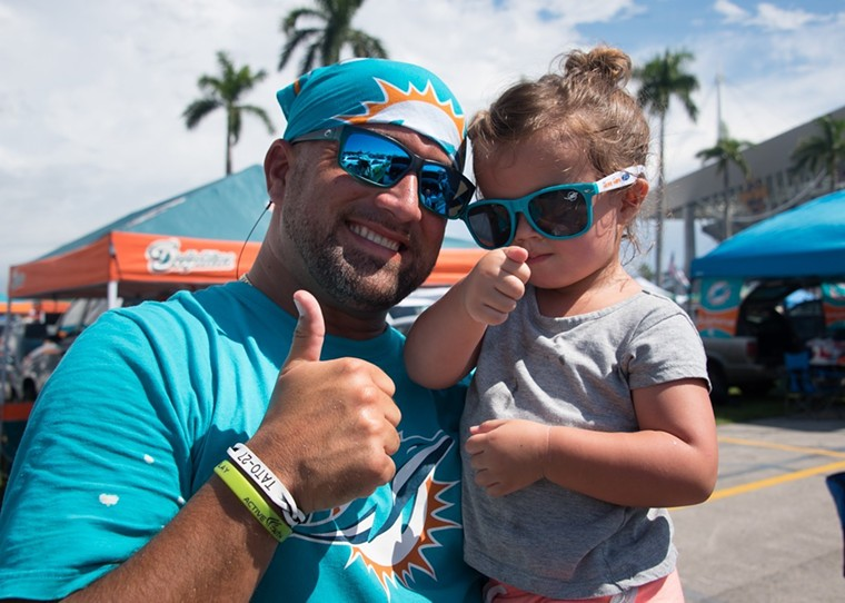 The Jimmy Buffetts of Miami Dolphins fans. - PHOTO BY MICHELLE EVE SANDBERG