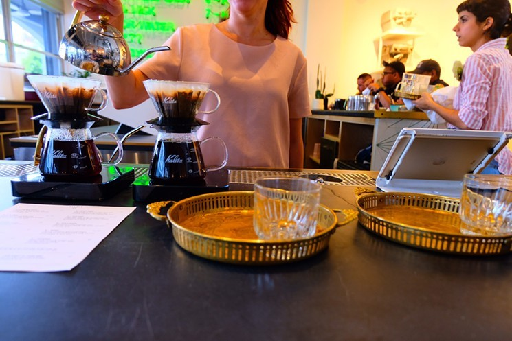 Some of the best coffee from sea to shining sea is served upon the Kalita Wave at All Day. - PHOTO COURTESY OF ALL DAY
