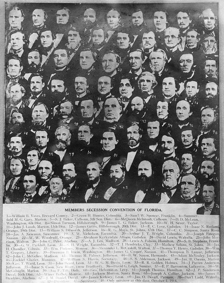 Members of the 1861 Tallahassee Secession Convention. See more photos of Florida's black history here. - PHOTO VIA STATE ARCHIVES OF FLORIDA