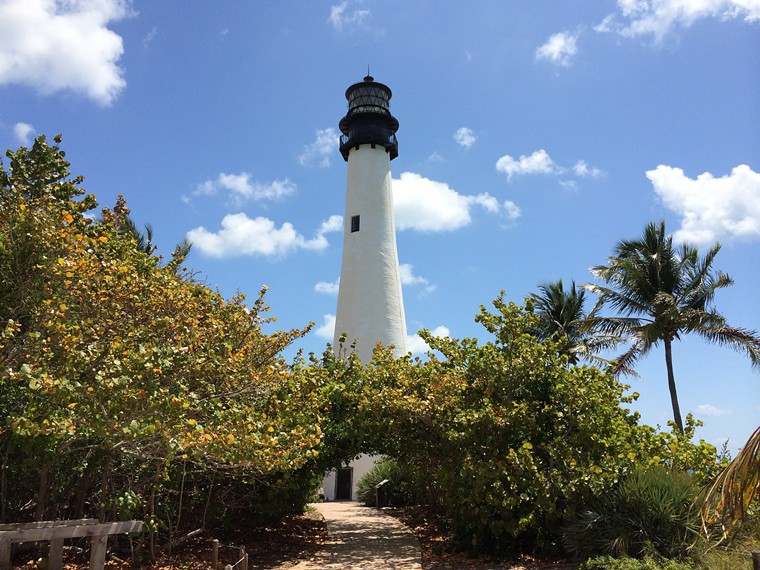 """The Cape Florida lighthouse in Key Biscayne marks the site of a former underground """"saltwater railroad."""" See more photos of Florida's black history here. - PHOTO BY PHILLIP PESSAR / FLICKR"""