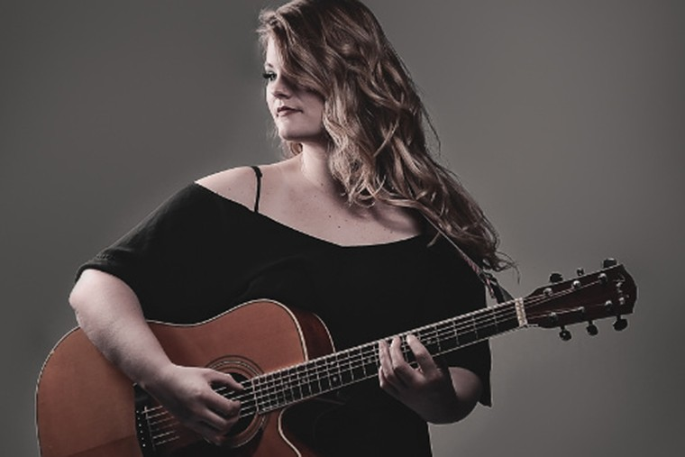 Blues rocker Lauren Anderson performs with her band Friday night at the Arts Garage in Delray Beach. - PHOTO COURTESY OF ARTS GARAGE