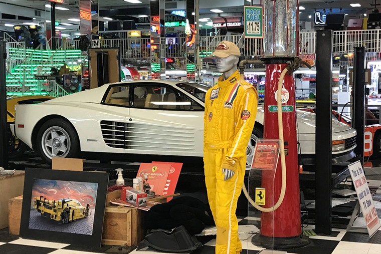Among the hidden gems at the Swap Shop's car museum is the Ferrari Testarossa from Miami Vice. - PHOTO BY WILLIAM FLOOD