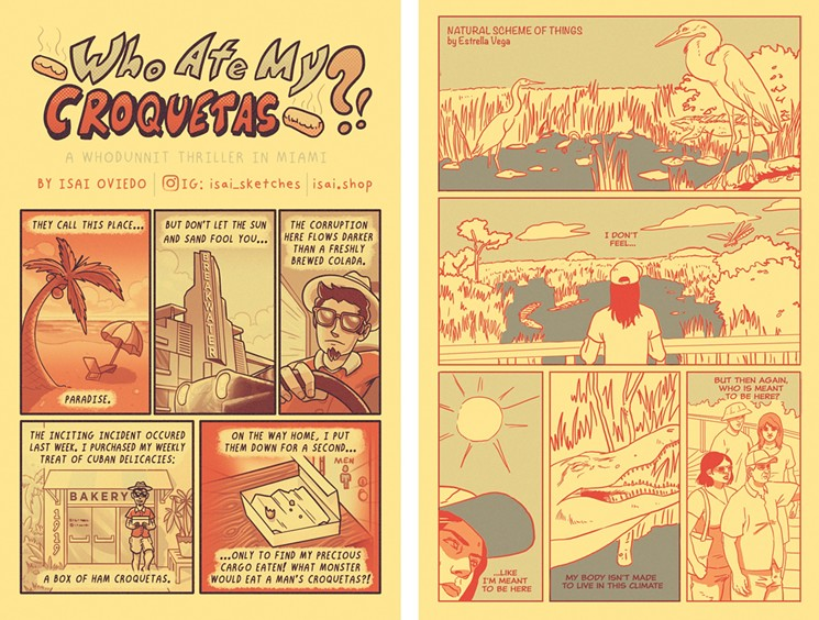 Who Ate My Croquetas?! and Natural Scheme of Things, two of the comics featured in the anthology. - ILLUSTRATIONS BY ISAI OVIEDO AND ESTRELLA VEGA
