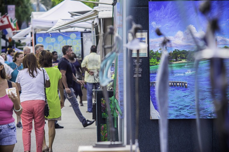Las Olas Boulevard is getting artsy this weekend. See Saturday (and Sunday, too). - PHOTO BY GATONOVA